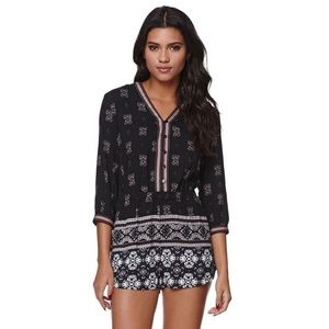 Kendal & Kylie Romper Button-Up